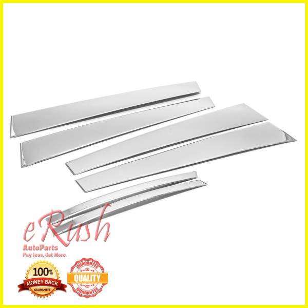 STAINLESS STEEL CHROME PILLARS FOR TOYOTA CAMRY 2015-2017 6PCS
