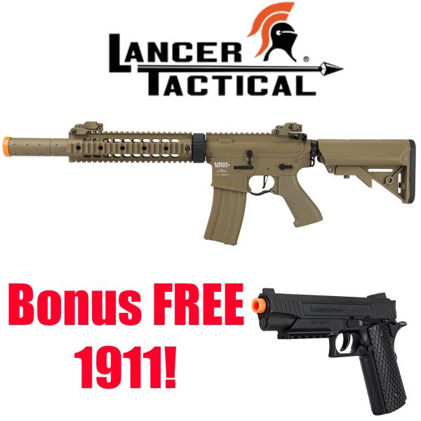 "Lancer Tactical LT-15CB ProLine Series 400 FPS M4 SD 9/"" Rail Airsoft Rifle Black"