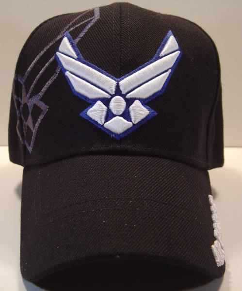 WHOLESALE NEW US AIR FORCE CAP HAT USAF BLACK