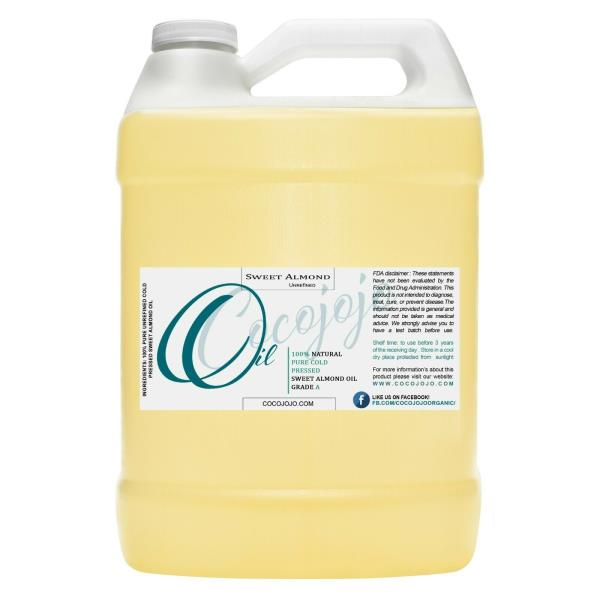 32 Oz or 1 gallon sweet almond oil pure unrefined cold pressed grade carrier oil