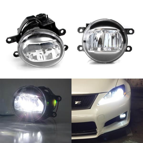 Details About Direct Fit Oem Spec Led Fog Lights For Toyota Lexus Scion Upgrade Or Replacement