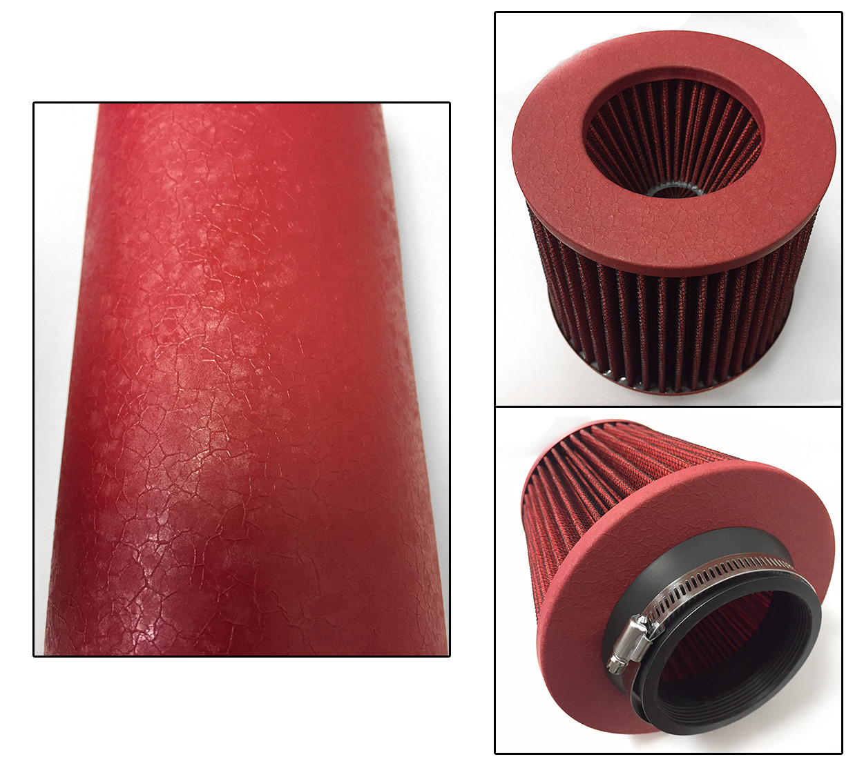 RED AIR INTAKE KIT FIT 1990-1993 GEO STORM ISUZU IMPULSE 1.6L 1.8L