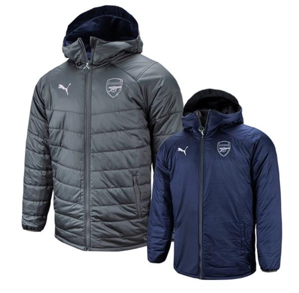 Details about Puma Men Arsenal FC Reversible Bench Padded Jacket Winter Coat Padded 75323806