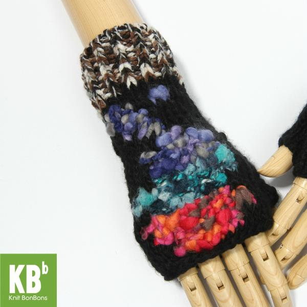 Knit BonBons Fashionable Mixed Colors Winter Cozy Knitted Fingerless Gloves