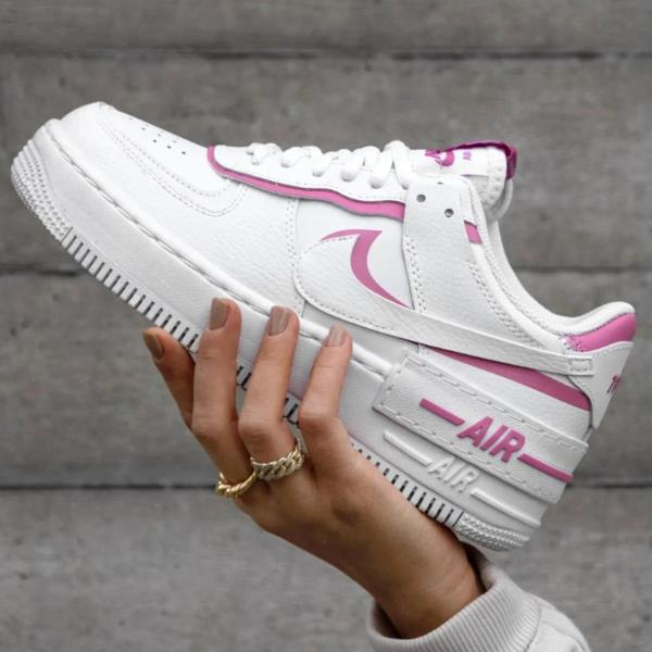 Nike Wmns Air Force 1 Shadow Flamingo White Womens Shoes Ebay