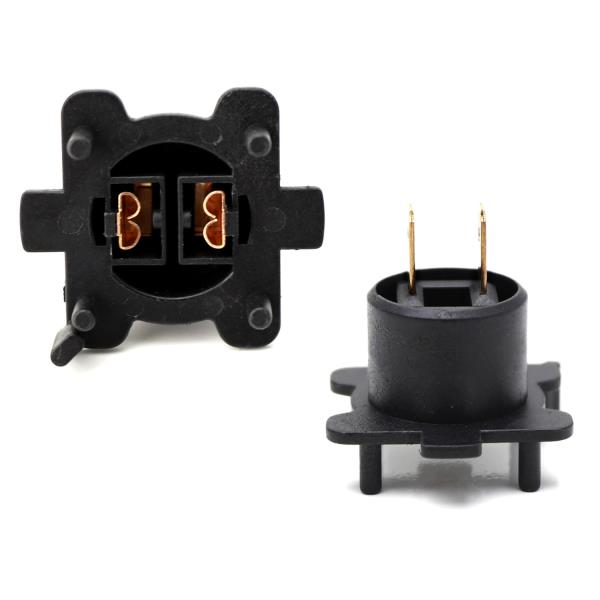 iJDMTOY H7 LED Headlight Bulbs Adapters Holders Retainers Compatible With Mazda 3 5 6 MX-5 CX-5 CX-7 RX-8 2 etc Low Beam