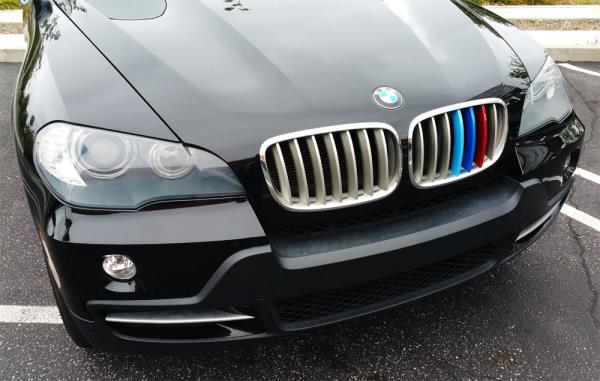 For BMW X5 E70 2008-2013 Kidney Grille Gill M Sport 3 Colour Cover Stripe Clips