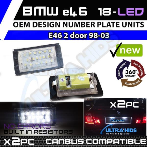 *2PC 18 SMD VW CADDY LED NUMBER PLATE UNITS 100/% CANBUS ERROR FREE BRIGHT WHITE