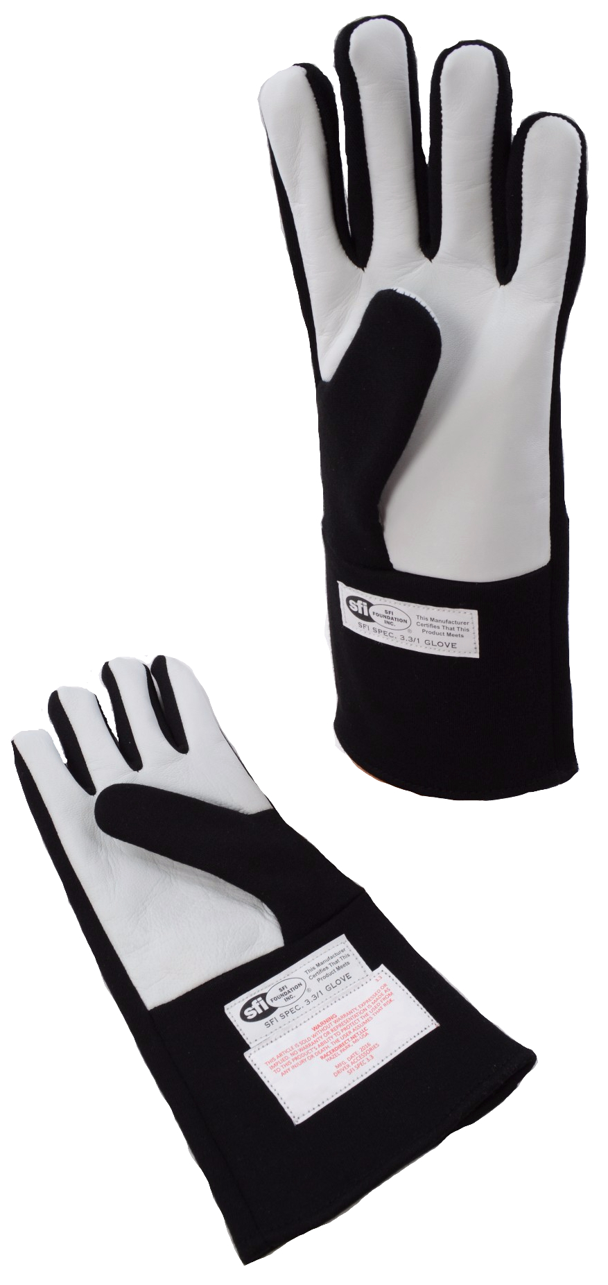G-FORCE RACING DRIVERS GLOVE G1 1-LAYER NOMEX KNIT /& LEATHER SFI 3.3//1 BLACK LRG