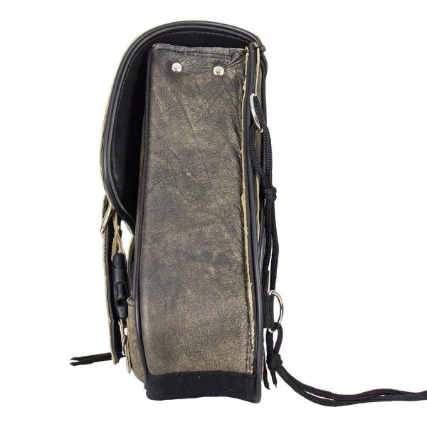 RIGHT SIDED BROWN LEATHER SOLO SWING ARM MOTORCYCLE BAG FOR HARLEY – DDC52