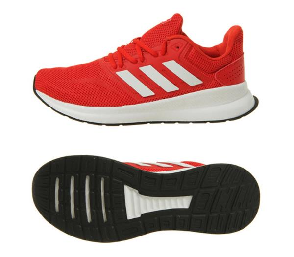 Adidas Men Run-Falcon M Shoes Running Red White Sneakers Boot GYM ...
