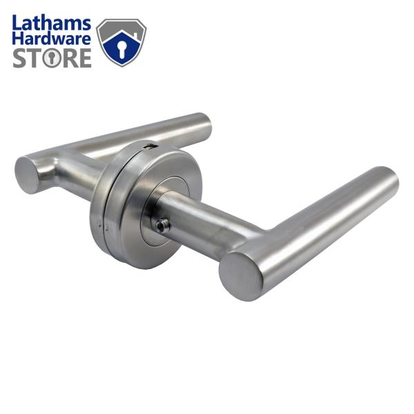 Internal /& External Arched Door Handle on Rose Lever Handle in Stainless Steel