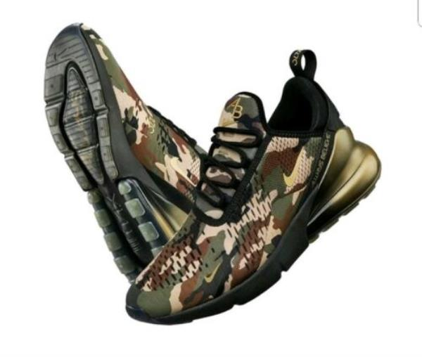 Details about NIKE AIR MAX 270 DOERNBECHER FREESTYLE CAMO BLACK GOLD AIDEN BARBER MENS SIZE 14