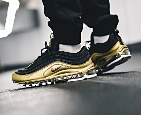 Details zu Nike Air Max 97 QS Black Gold Size 7 8 9 10 11 12 13 Mens Shoes New AT5458 002