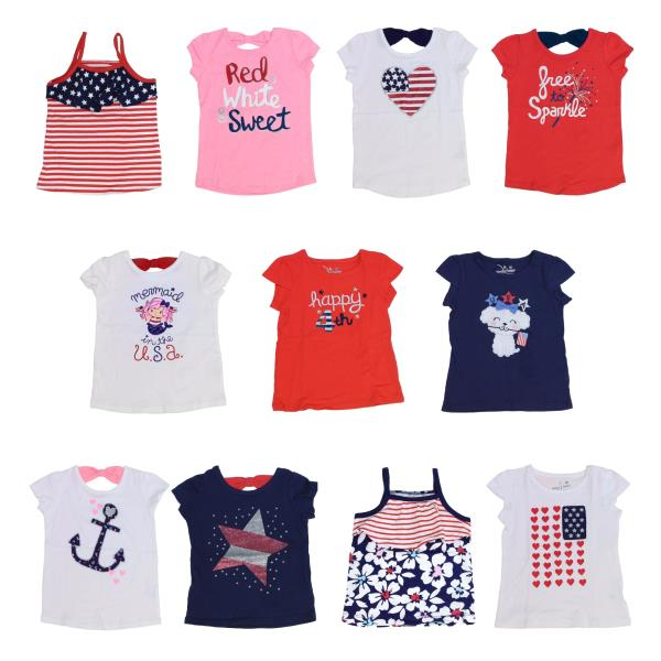 4th of July Top for Girls USA American Independence Day Jumping Beans Shirts