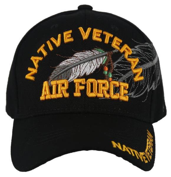 NEW US AIR FORCE USAF ROUND RETIRED LEAF SHADOW CAP HAT NAVY