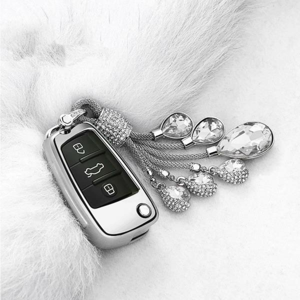 For Audi A1 A3 Q7 Q5 Q3 Silver Protector Keyless Remote