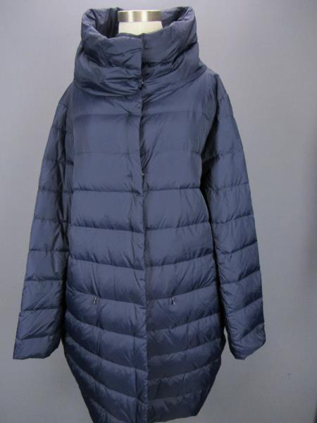 Eileen Fisher Woman/'s Button Blue Down Long Puffer Over Coat Size 2XS Was $398
