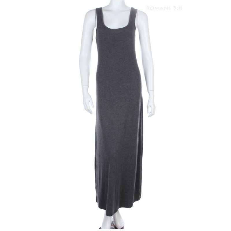 NEW Black Long Full Length Maxi Tank Dress-Poly//Rayon//Spandex-XS//S-M-L