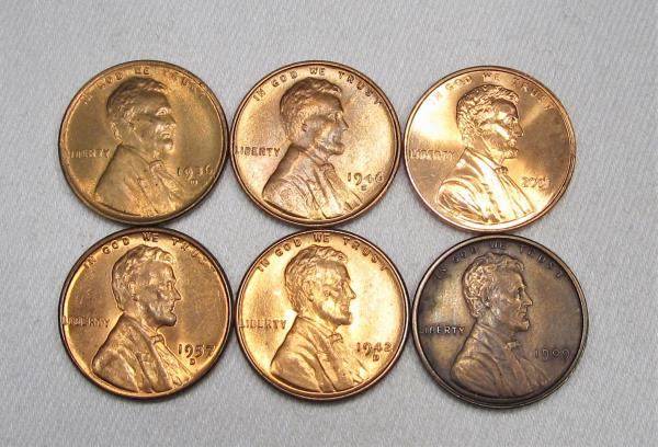 UNC NOT BU 2001 P LINCOLN CENT ROLL