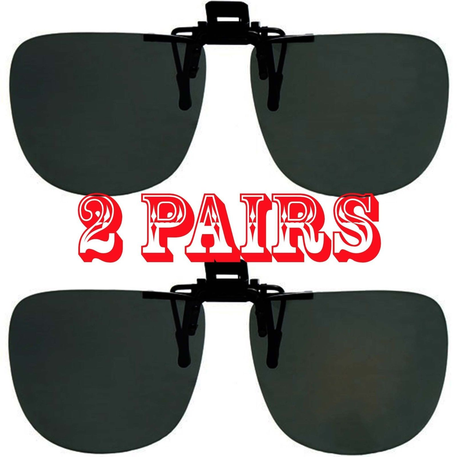 Dark Polarized Lenses Flip Up Clip On for Sunglasses Glasses Outdoor Driving