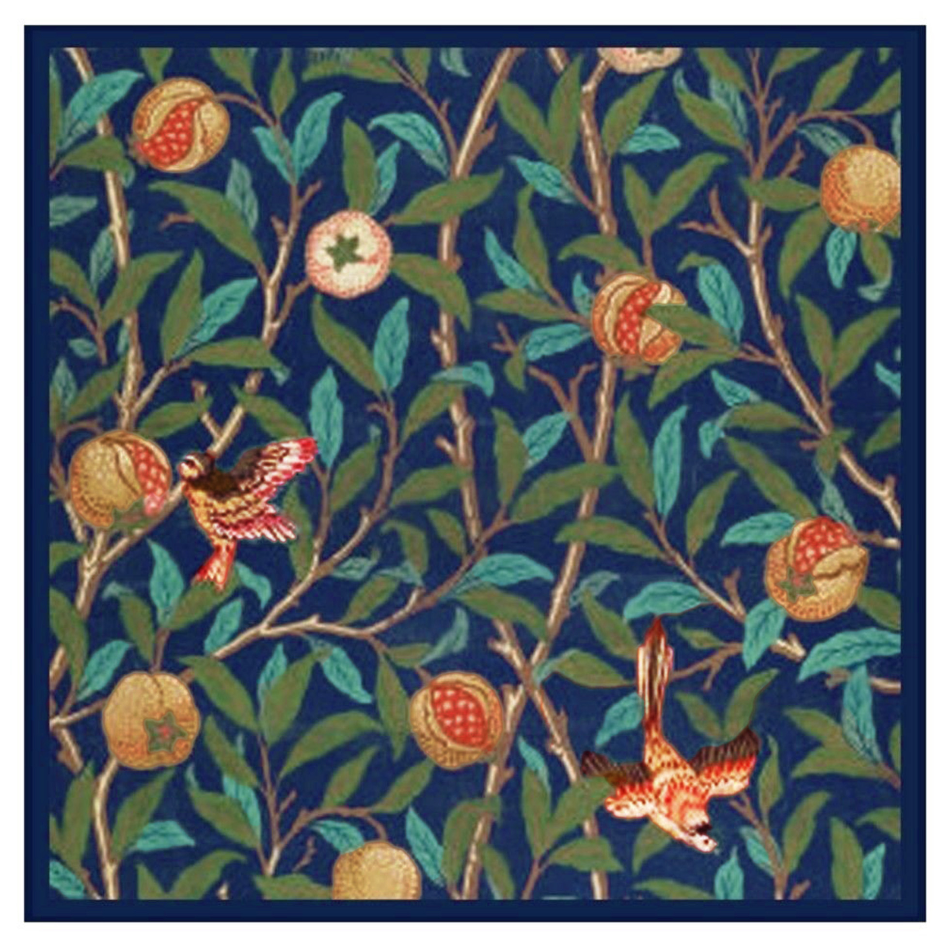 William Morris Birds and Pomegranates Counted Cross Stitch Chart Pattern