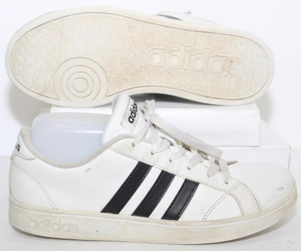 Adidas Neo Baseline K Casual Shoes AW4299 White 3 Stripe Sneakers ...