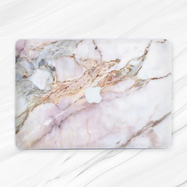Pink Classical Marble Laptop Cover Case For Macbook Pro 13 Retina 15 Air 11 13