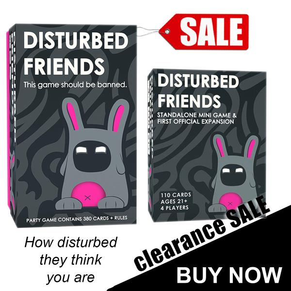 Disturbed Friends First Expansion Standalone Mini Game All New Cards !!