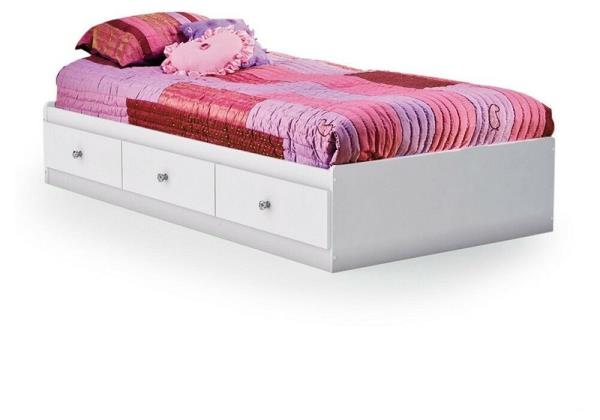 Details About New Kids Twin Size White Wooden Platform Bed Frame Under Storage 3 Drawers Nice