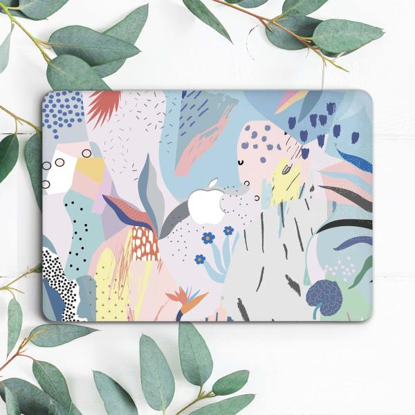 13 and 15 inch Hard Plastic Cover 11 Dessi Designs Abstract Botanical Painting MacBook Case for MacBook Pro and Air Mid century boho 12