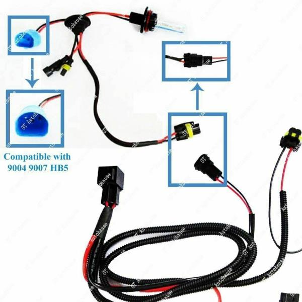 Battery Relay Wiring Harness Adapter For H3 H7 H11 9005