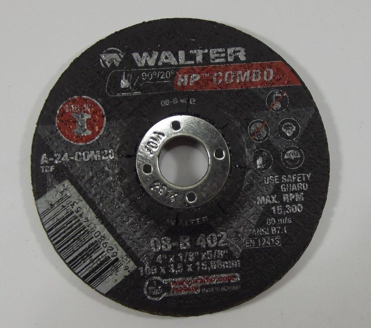 "Walter 08-K 600 6/"" x 1//4/'/'x7//8/"" HP XX Depressed Center Grinding Wheels 5 pack"