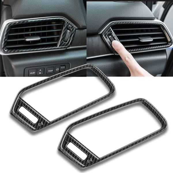 Carbon Fiber Color Console AC AIR Condition Vent Cover Trim For Honda Accord 18