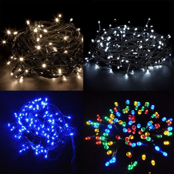 Memory Fully Waterproof Christmas Fairy Lights Cool White 400 LED 40M 8M Modes