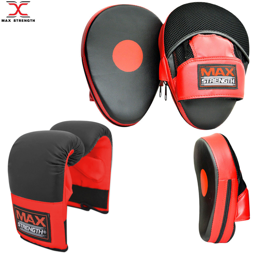Mitts Boxing Gloves Focus Pads Set Hook /& Jabs Mitts Punch Bag Gym Training MMA