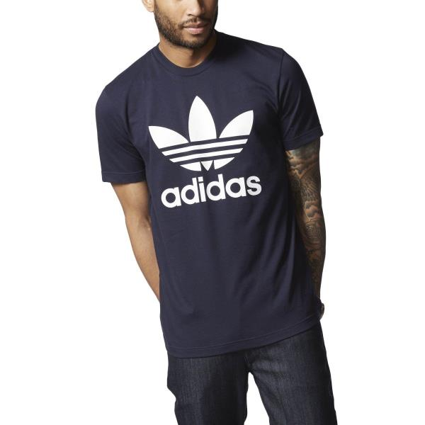 new concept really comfortable outlet for sale Details about [AY7710] Mens Adidas Originals Trefoil Tee Shirt - Legend Ink