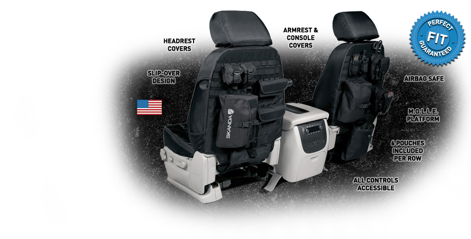 Pair Of Tactical Military Vehicle Molle II Seat Cover Car Truck Jeep Ballistic