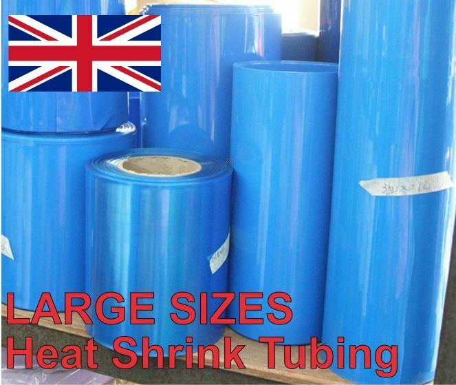 Heat Shrink Tube Tubing Wrap Sleeve Blue 300mm 1 metre 18650 Battery UK Stock