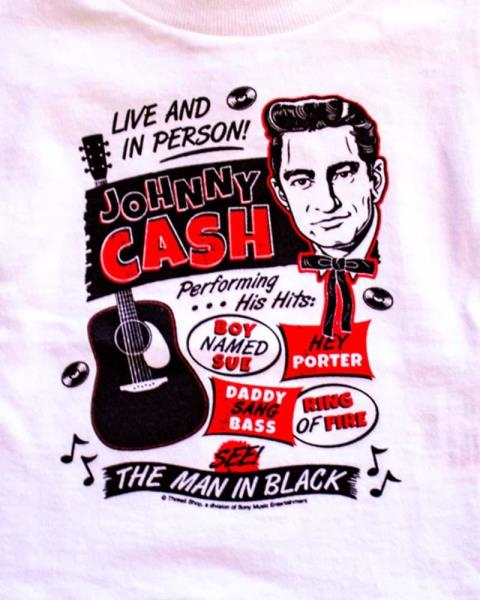 Sourpuss Johnny Cash Flyer Baby Toddler Kids Shirt Tee Rock N Roll Cool Licenced