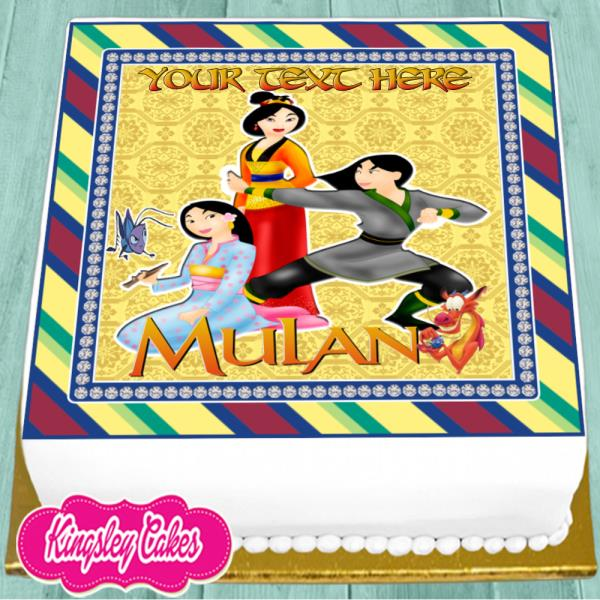 Fabulous Mulan Personalised Birthday 7 5 Inch Precut Edible Cake Topper Funny Birthday Cards Online Bapapcheapnameinfo