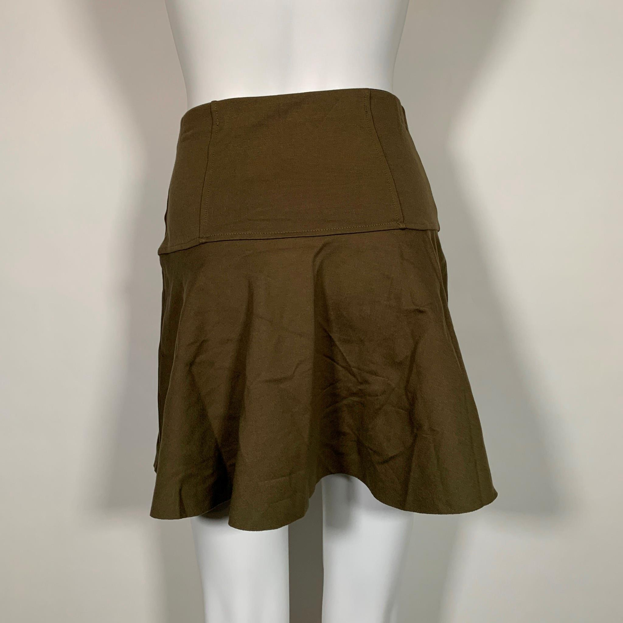Details about  /Free People Skirt Mini Olive Green Sz S NEW NWT