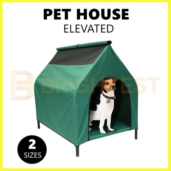 Elevated Pet House Cat Dog Puppy Pet Bed Pet Kennel Waterproof Portable Outdoor Ebay