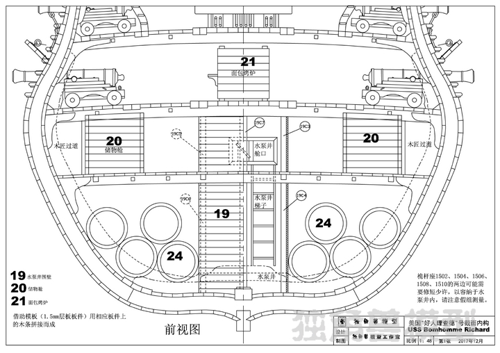 USS Bonhomme Richard Full Rib Cross Section Inside