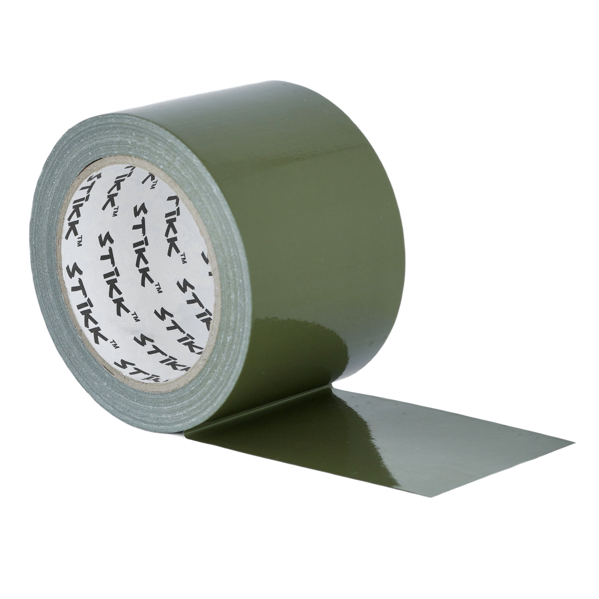 """3/"""" x 25yd 7.5Mil Thick Drab Olive Duct Tape PE Coat Weather Resistant 2.83/"""" 72mm"""