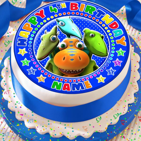 Prime Dinosaur Train Birthday Personalised 7 5 Inch Precut Edible Cake Funny Birthday Cards Online Alyptdamsfinfo