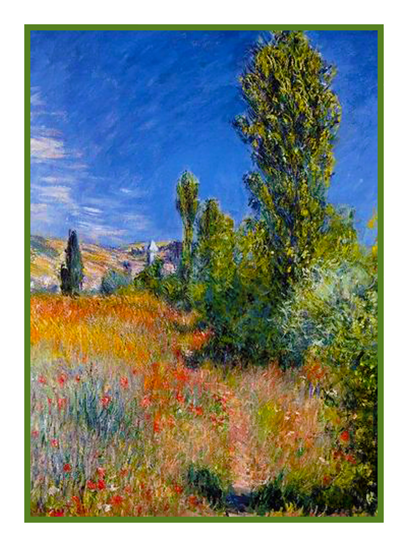 Orenco Originals The Garden Path in Giverny Monet Counted Cross Stitch Pattern