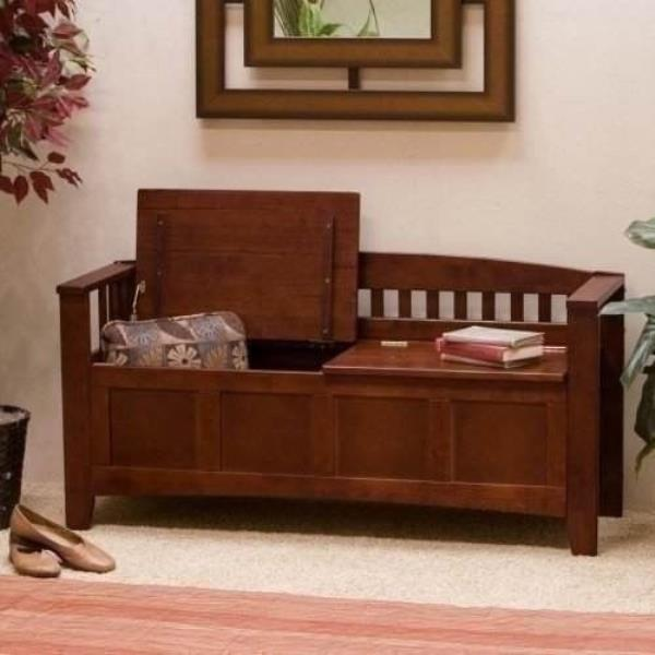 Miraculous Details About New Large Wooden Brown Storage Bench Back Entryway Mud Room Bedroom Entry Way Theyellowbook Wood Chair Design Ideas Theyellowbookinfo