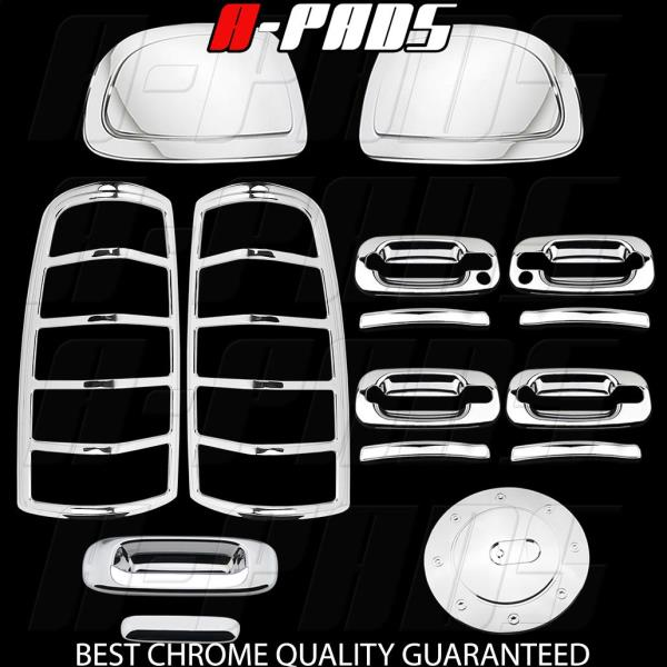 AAL Chrome Covers 03-06 Chevy Silverado Mirror 2Dr Handle Tailgate Taillight Gas