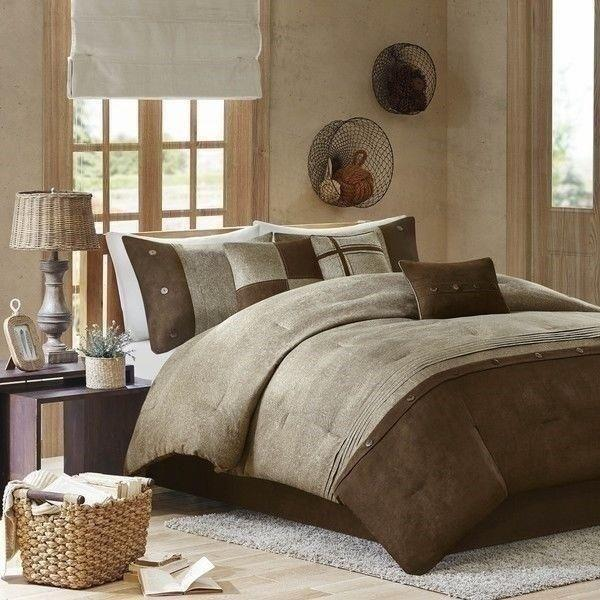 Queen Cal King Bed Brown Taupe, Earth Tone Bedding Collections